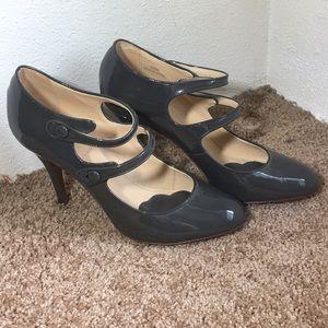 J.Crew grey patent leather Mary Janes, sz 9.5